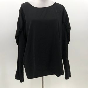 Express black bubble sleeve blouse sz XL